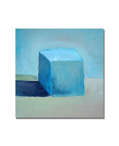 "Trademark Global Michelle Calkins 'Blue Cube Still Life' Canvas Art - 24"" x 24"""