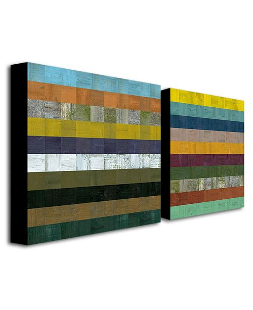 "Trademark Global Michelle Calkins 'Wooden Abstract VII' Canvas Art - 24"" x 24"""