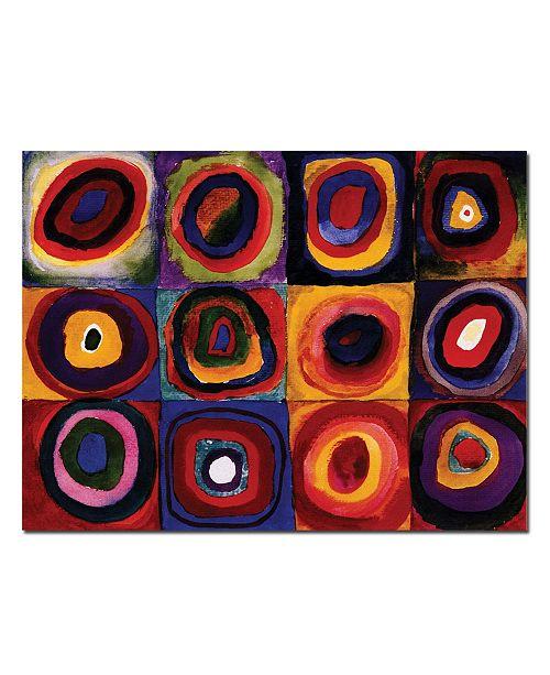 "Trademark Global Wassily Kandinsky 'Karbstudie Quadrate' Canvas Art - 32"" x 24"""