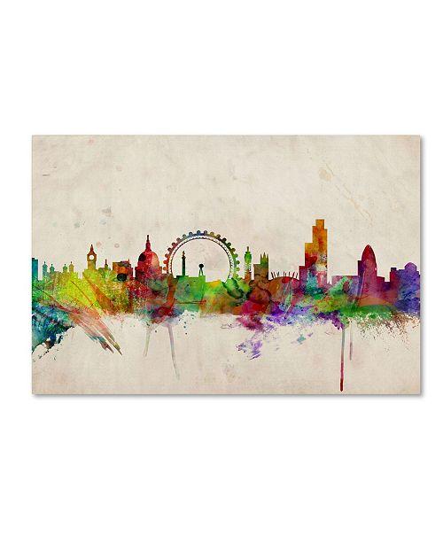 "Trademark Global Michael Tompsett 'London Skyline' Canvas Art - 24"" x 16"""