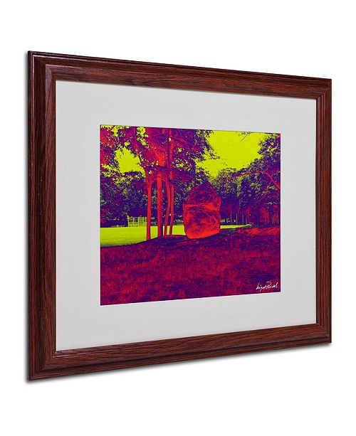 """Trademark Global Miguel Paredes 'Enchanted Rock II' Matted Framed Art - 20"""" x 16"""""""