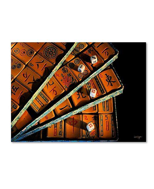 "Trademark Global Lois Bryan 'Mad For Mahjong' Canvas Art - 47"" x 30"""
