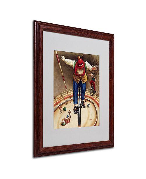 """Trademark Global Edgar Barrios 'Vertigus' Matted Framed Art - 20"""" x 16"""""""