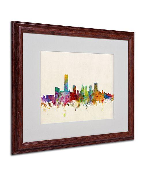 """Trademark Global Michael Tompsett 'Oklahoma City Skyline' Matted Framed Art - 20"""" x 16"""""""