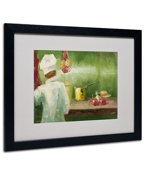 "Trademark Global Rio 'What's Cooking' Matted Framed Art - 20"" x 16"""