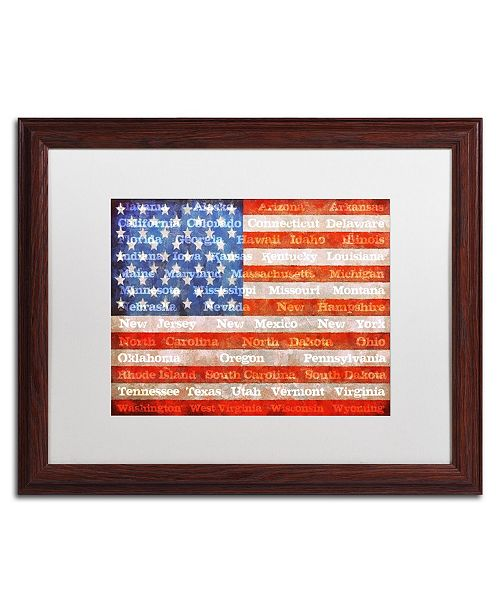 "Trademark Global Michelle Calkins 'American States' Matted Framed Art - 20"" x 16"""