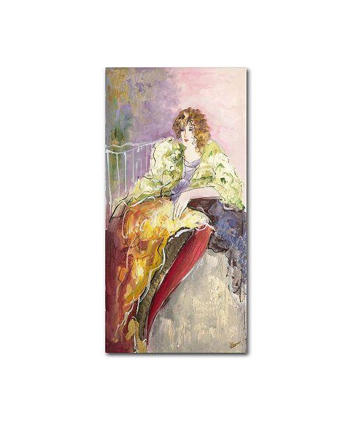 "Trademark Global Rosario Tapia 'Yellow Jacket' Canvas Art - 24"" x 12"""