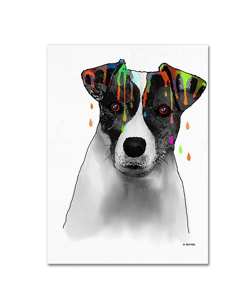 "Trademark Global Marlene Watson 'Jack Russel Terrier' Canvas Art - 35"" x 47"""