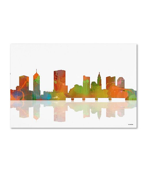 "Trademark Global Marlene Watson 'Columbus Ohio Skyline II' Canvas Art - 22"" x 32"""