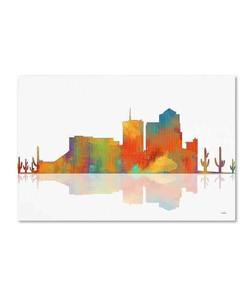 "Trademark Global Marlene Watson 'Tuscon Arizona Skyline' Canvas Art - 22"" x 32"""