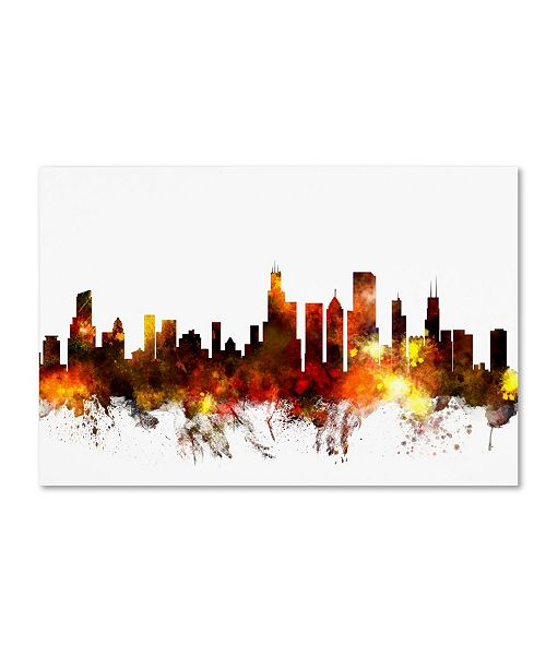 "Trademark Global Michael Tompsett 'Chicago Illinois Skyline VI' Canvas Art - 30"" x 47"""