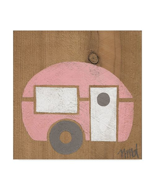 "Trademark Global Nicole Dietz 'Pink Camp' Canvas Art - 14"" x 14"""