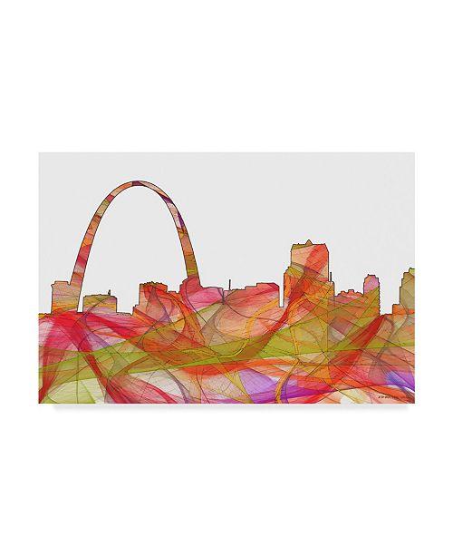 "Trademark Global Marlene Watson 'St Louis Missouri Skyline' Canvas Art - 12"" x 19"""