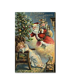 "Vintage Apple Collection 'Merry Christmas Santa' Canvas Art - 12"" x 19"""