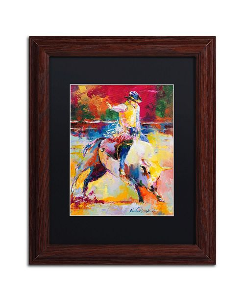 "Trademark Global Richard Wallich 'Rodeo' Matted Framed Art - 11"" x 14"""