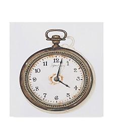 """Lisa Audit 'Pocket Watch' Canvas Art - 14"""" x 14"""""""
