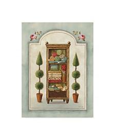 """Lisa Audit 'Bathroom Linen' Canvas Art - 14"""" x 19"""""""