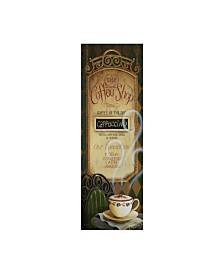 "Lisa Audit 'Coffee Shop Menu' Canvas Art - 10"" x 32"""