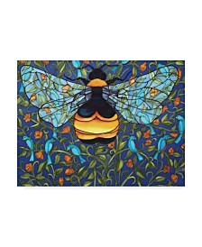 "Holly Carr 'Bee And Blue Birds' Canvas Art - 14"" x 19"""