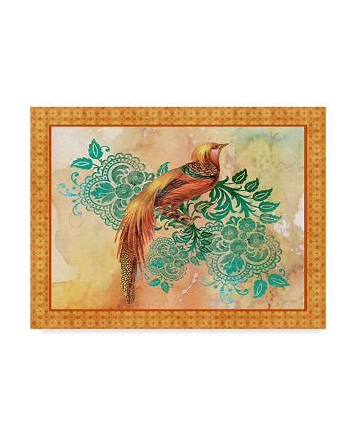 "Trademark Global Jean Plout 'Exotic Birds Perch' Canvas Art - 14"" x 19"""