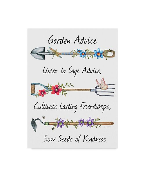 "Trademark Global Jean Plout 'Garden Advice' Canvas Art - 14"" x 19"""