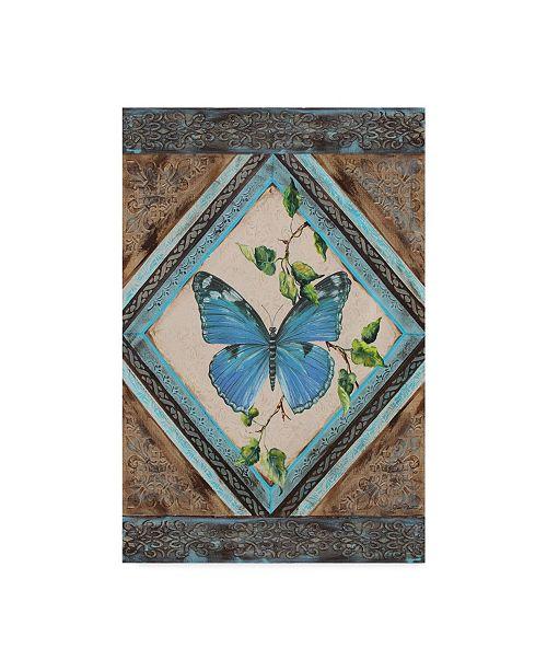"""Trademark Global Jean Plout 'Papillion Bleu' Canvas Art - 12"""" x 19"""""""