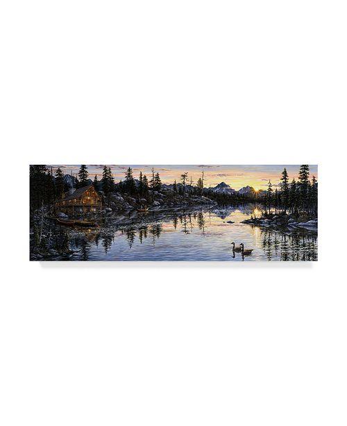 """Trademark Global Jeff Tift 'Evening Sunset' Canvas Art - 10"""" x 32"""""""