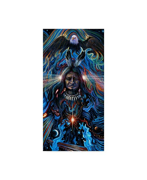 "Trademark Global Jeff Tift 'Eagle Spirit' Canvas Art - 10"" x 19"""