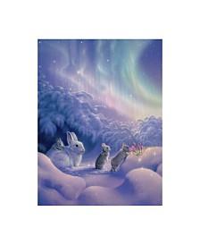 """Kirk Reinert 'Snuggle Bunnies' Canvas Art - 14"""" x 19"""""""