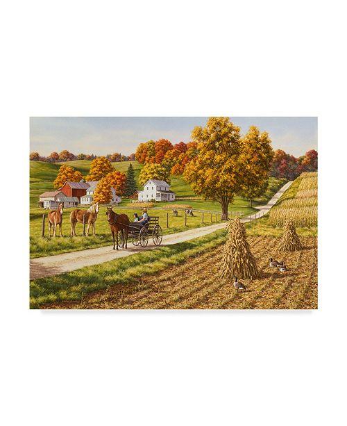 "Trademark Global William Breedon 'Visiting The Neighbors' Canvas Art - 12"" x 19"""