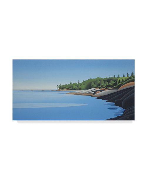 "Trademark Global Ron Parker 'Arbutus Point Evening' Canvas Art - 10"" x 19"""