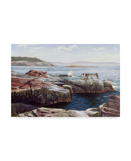 "Trademark Global Rusty Frentner 'Thunder Hole' Canvas Art - 12"" x 19"""