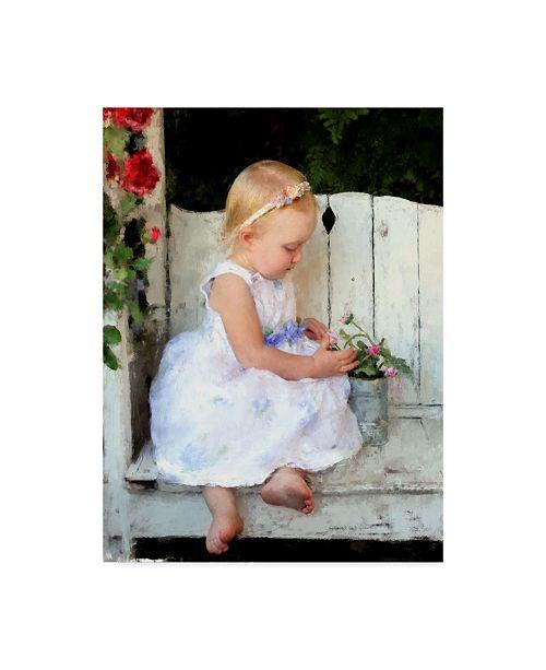 "Trademark Global Sharon Forbes 'The Little Gardner' Canvas Art - 14"" x 19"""