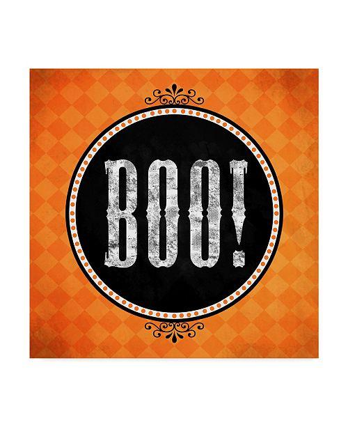 """Trademark Global Valarie Wade 'Boo' Canvas Art - 14"""" x 14"""""""