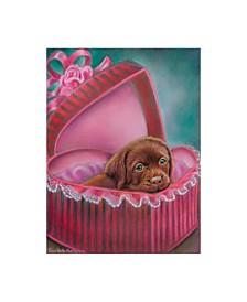 "Tricia Reilly-Matthews 'A Box Of Chocolate' Canvas Art - 14"" x 19"""