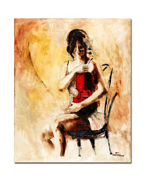 "Trademark Global Joarez 'Divine Melody' Canvas Art - 14"" x 19"""