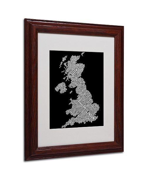 "Trademark Global Michael Tompsett 'United Kingdom VIII' Matted Framed Art - 14"" x 11"""