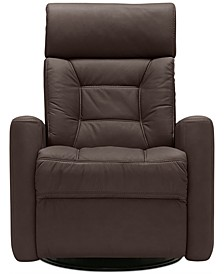 "Nedelino 32"" Leather Wallhugger Power Recliner"