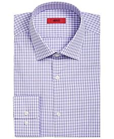 HUGO Hugo Boss Men's Slim-Fit Lavender Micro-Check Dress Shirt