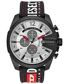 Men's Chronograph Mega Chief Black Silicone Strap Watch 51mm