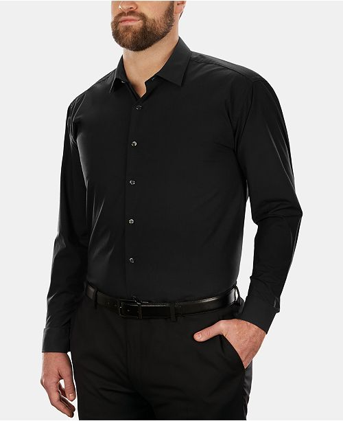 Kenneth Cole Unlisted Men's Big & Tall Classic/Regular-Fit Solid Dress Shirt