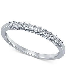 Diamond Princess Trellis Band (1/4 ct. t.w.) in 14k White Gold