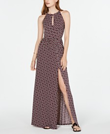 MICHAEL Michael Kors Printed Halter Slit Maxi Dress, in Regular & Petite Sizes