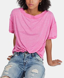 Free People Viola Open-Back High-Neck T-Shirt
