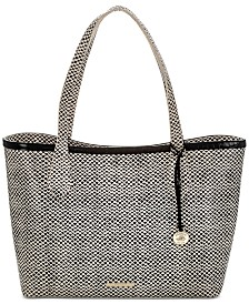 Brahmin Athena Black Tala Embossed Leather Tote