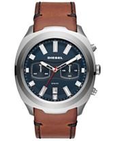 4bcad14e4009 Diesel Men s Chronograph Tumbler Brown Leather Strap Watch 48mm