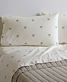 Printed Cotton Percale Twin Sheet Set