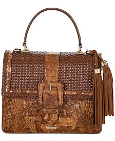 Brahmin Mini Francine Tamarind Jennings Leather Satchel