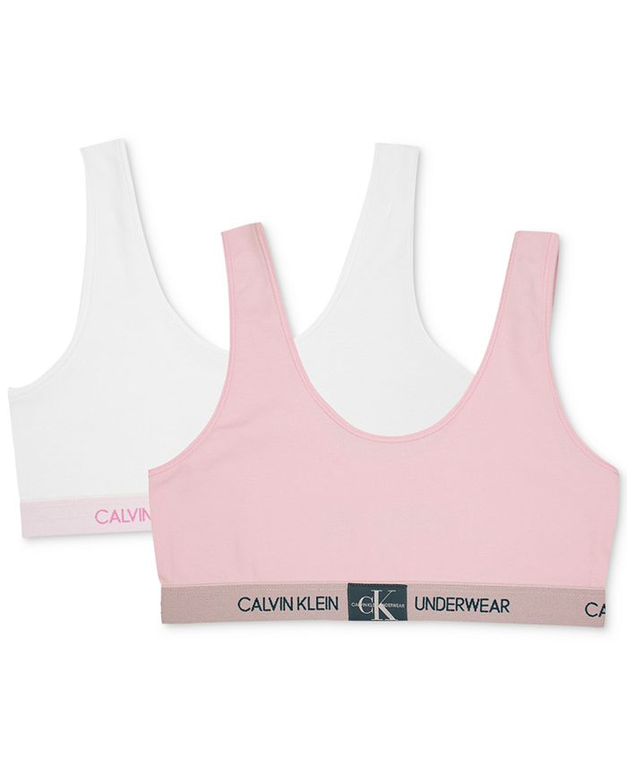 Calvin Klein - Big Girls 2-Pack Monogrammed Bralettes