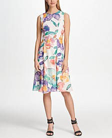 Chiffon Floral Printed A-line Dress